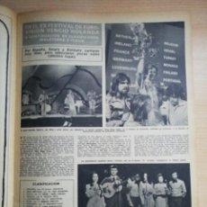 Coleccionismo de Revista Hola: FESTIVAL EUROVISION 1975. Lote 278957563