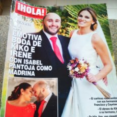 Coleccionismo de Revista Hola: REVISTA HOLA - Nº 3768 -- 19 DE OCTUBRE 2016 -- BODA DE KIKO E IRENE --. Lote 279382373