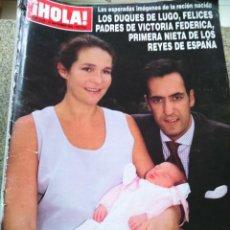 Coleccionismo de Revista Hola: REVISTA HOLA - Nº 2928 -- 21 DE SEPTIEMBRE 2000 -- LOS DUQUE DE LUGO PADRES DE VICTORIA --. Lote 279405008
