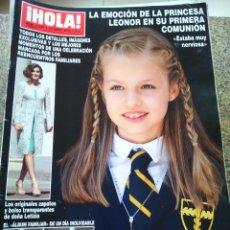 Collectionnisme de Magazine Hola: REVISTA HOLA - Nº 3695 -- 27 DE MAYO 2015 -- PRIMERA COMUNION DE LA PRINCESA LEONOR --. Lote 279405258