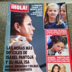 Coleccionismo de Revista Hola: REVISTA HOLA - Nº 3716 -- 21 DE OCTUBRE 2015 -- LAS HORAS MAS DIFICILES DE ISABEL PANTOJA Y SU HIJA. Lote 279451083