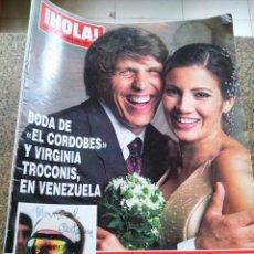 Coleccionismo de Revista Hola: REVISTA HOLA - Nº 3107 -- 19 DE FEBRERO 2004 -- BODA DE EL CORDOBES Y VIRGINIA TROCONIS -. Lote 279456433