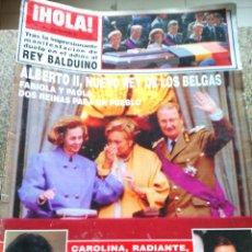 Coleccionismo de Revista Hola: REVISTA HOLA - Nº 2558 -- 19 DE AGOSTO 1993 -- ALBERTO II NUEVO REY DE LOS BELGAS --. Lote 279512288