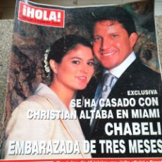 Coleccionismo de Revista Hola: REVISTA HOLA - Nº 2984 -- 18 DE OCTUBRE 2001 -- CHRISTIAN ALTABA Y CHABELI --. Lote 279512743