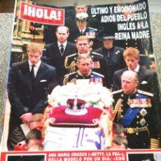 Coleccionismo de Revista Hola: REVISTA HOLA - Nº 3010 -- 18 DE ABRIL 2002 -- ULTIMO ADIOS DEL PUEBLO INGLES A LA REINA MADRE --. Lote 279515983