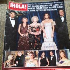Coleccionismo de Revista Hola: REVISTA HOLA - Nº 3472 -- 16 DE FEBRERO 2011 -- LA CENA DEL PRINCIPE CARLOS CON LA DUQUESA DE ALBA. Lote 279516673