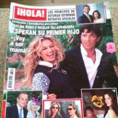 Coleccionismo de Revista Hola: REVISTA HOLA - Nº 3432 -- 12 DE MAYO 2010 -- PAULINA RUBIO Y NICOLAS ESPERAN SU PRIMER HIJO --. Lote 279516968