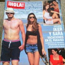 Coleccionismo de Revista Hola: REVISTA HOLA - Nº 3491 -- 29 DE JUNIO 2011 -- IKER Y SARA DE VACACIONES --. Lote 279517138