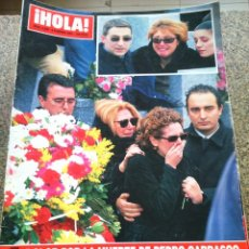 Coleccionismo de Revista Hola: REVISTA HOLA - Nº 2948 -- 8 DE FEBRERO 2001 - DOLOR POR LA MUERTE DE PEDRO CARRASCO --. Lote 279517278
