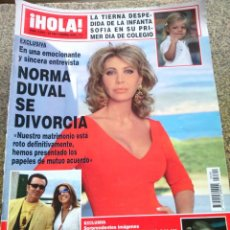Coleccionismo de Revista Hola: REVISTA HOLA - Nº 3399 -- 23 DE SEPTIEMBRE 2009 -- NORMA DUVAL SE DIVORCIA --. Lote 279524478