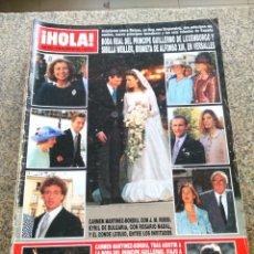 Coleccionismo de Revista Hola: REVISTA HOLA - Nº 2617 -- 6 DE OCTUBRE 1994 -- BODA DEL PRINCIPE GUILLERMO Y SIBILLA WEILLER --. Lote 279552508