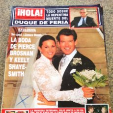 Coleccionismo de Revista Hola: REVISTA HOLA - Nº 2975 -- 16 DE AGOSTO 2001 -- BODA DE PIERCE BROSNAN Y KEELY SHAYE --. Lote 279586328