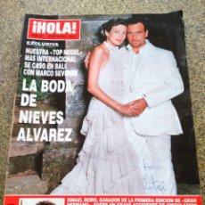 Coleccionismo de Revista Hola: REVISTA HOLA - Nº 3015 -- 23 DE MAYO 2002 -- LA BODA DE NIEVES ALVAREZ --. Lote 279586633