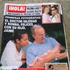 Coleccionismo de Revista Hola: REVISTA HOLA - Nº 3124 -- 17 DE JUNIO 2004 -- EL DOCTOR IGLESIAS Y RONNA CON SU HIJO --. Lote 280103753