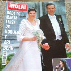 Coleccionismo de Revista Hola: REVISTA HOLA - Nº 3017 -- 6 DE JUNIO 2002 --BODA DE MARTA LUISA DE NORUEGA Y ARI BEHN --. Lote 280109373
