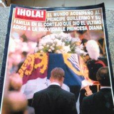 Coleccionismo de Revista Hola: REVISTA HOLA - Nº 2771 -- 18 DE SEPTIEMBRE 1997 -- ENTIERRO DE LA PRINCESA DIANA --. Lote 280109568