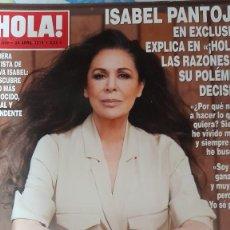 Coleccionismo de Revista Hola: REVISTA HOLA NUMERO 3899 ISABEL PANTOJA. Lote 280711388