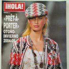 Coleccionismo de Revista Hola: REVISTA ¡HOLA! NÚMERO EXTRAORDINARIO PRET A PORTER OTOÑO-INVIERNO 2004-2005 MODA GIORGIO ARMANI. Lote 283676543