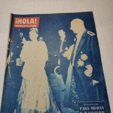 Coleccionismo de Revista Hola: REVISTA HOLA N°791 AÑO 1959 PORTADA GRACIA Y RAINIERO. Lote 284031698