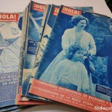 Coleccionismo de Revista Hola: REVISTA HOLA LOTE 21 NÚMEROS DISTINTOS AÑOS 1957-60. Lote 284172478