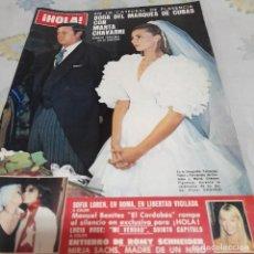 Collectionnisme de Magazine Hola: REVISTA HOLA NUMERO 1973 LA BODA DE MARQUÉS DE CUBAS Y MARTA CHÁVARRI. Lote 288553913