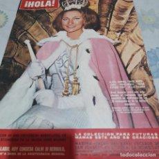 Coleccionismo de Revista Hola: REVISTA HOLA NUMERO 1083 ALICIA BORRÁS MISS ESPAÑA. Lote 288580553