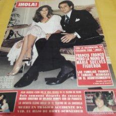 Coleccionismo de Revista Hola: REVISTA HOLA NUMERO 1925 FRANCIS FRANCO Y MARÍA SUELVES FIGUEROA. Lote 289501988