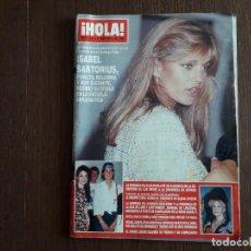 Coleccionismo de Revista Hola: REVISTA HOLA, NÚMERO 2446, 27 JUNIO 1991. ISABEL SARTORIUS, RECIBE TÍTULO EN LA ESCUELA DIPLOMÁTICA.. Lote 289533833
