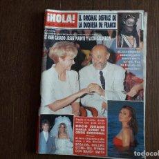 Coleccionismo de Revista Hola: REVISTA HOLA, NÚMERO 2340, 19 JUNIO 1989. SE HAN CASADO JESÚS PUENTE Y LICIA CALDERÓN.. Lote 289533888