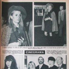 Coleccionismo de Revista Hola: RECORTE REVISTA HOLA N.º 1232 1968 CATHERINE DENEUVE, MIA FARROW. FESTIVAL ZECCHINO D'ORO. Lote 289566988