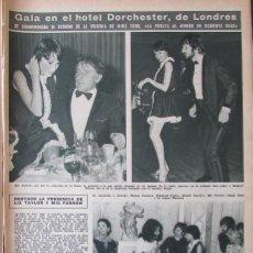 Coleccionismo de Revista Hola: RECORTE REVISTA HOLA N.º 1232 1968 RICHARD BURTON, LIZ TAYLOR, MIA FARROW, RINGO STARR.. Lote 289567328