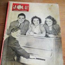 Coleccionismo de Revista Hola: REVISTA HOLA (SEMANARIO DE AMENIDADES), N°33, PORTADA FOTO MICKEY ROONEY AL PIANO, 1945.. Lote 291500473