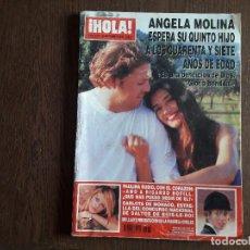 Coleccionismo de Revista Hola: REVISTA HOLA, NÚMERO 3.033, 26 SEPTIEMBRE 2002. ANGELA MOLINA ESPERA SU QUINTO HIJO... Lote 292939703