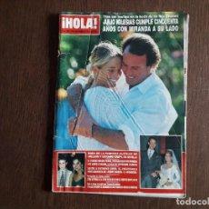 Coleccionismo de Revista Hola: REVISTA HOLA, NÚMERO 2.564, 30 SEPTIEMBRE 1993. JULIO IGLESIAS CUMPLE 50 AÑOS CON MIRANDA A SU LADO.. Lote 292941008