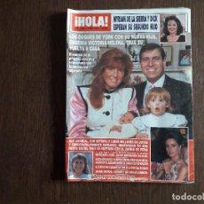 Coleccionismo de Revista Hola: REVISTA HOLA, NÚMERO 2.383, 12 ABRIL 1990. LOS DUQUES DE YORK CON SU NUEVA HIJA.. Lote 292941328