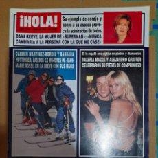 Coleccionismo de Revista Hola: REVISTA HOLA NUMERO 2795 VALERIA MAZZ, CARMEN MARTÍNEZ BORDIU. Lote 293652443