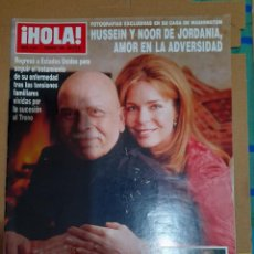 Coleccionismo de Revista Hola: REVISTA HOLA NUMERO 2844 HUSSEIN Y NOOR DE JORDANIA. Lote 293653018