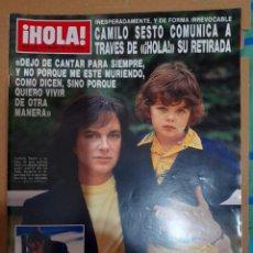 Coleccionismo de Revista Hola: REVISTA HOLA 2223 CAMILO SESTO. Lote 293685003