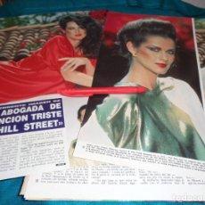 Coleccionismo de Revista Hola: RECORTE : VERONICA HAMEL, DE LA SERIE CANCION TRISTE DE HILL STREET. HOLA, MAYO 1992(#). Lote 293734588