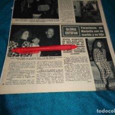 Coleccionismo de Revista Hola: RECORTE : GLORIA ESTEFAN, VACACIONES EN MARBELLA CON SU FAMILIA. HOLA, MAYO 1992(#). Lote 293735093