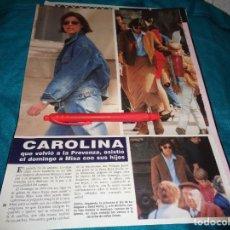 Coleccionismo de Revista Hola: RECORTE : CAROLINA DE MONACO, ASISTE A MISA CON SUS HIJOS. HOLA, MAYO 1992(#). Lote 293735448