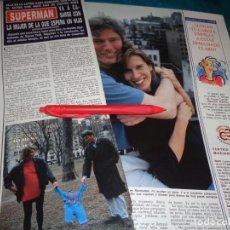 Coleccionismo de Revista Hola: RECORTE : CRISTOPHER REEVE, SUPERMAN, ESPERA SU PRIMER HIJO. HOLA, MAYO 1992(#). Lote 293735738