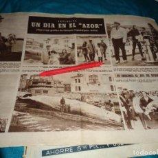 Coleccionismo de Revista Hola: RECORTE : UN DIA EN EL AZOR, CON FRANCO. HOLA, AGOSTO 1963(#). Lote 293930703