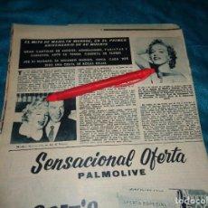 Coleccionismo de Revista Hola: RECORTE : EL MITO DE MARILYN MONROE, EN EL PRIMER ANIVERSARIO. HOLA, AGOSTO 1963(#). Lote 293930808