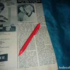 Coleccionismo de Revista Hola: RECORTE : JOHNNY HALLYDAY ACOGIDO A TOMATAZOS EN BAYONA. HOLA, AGOSTO 1963(#). Lote 293930903