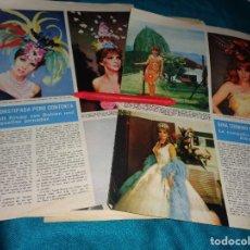 Coleccionismo de Revista Hola: RECORTE : GINA LOLLOBRIGIDA, MODELOS DE CARNAVAL. HOLA, MARZO 1967(#). Lote 293931378