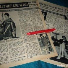 Coleccionismo de Revista Hola: RECORTE : SHIRLEY MACLAINE : MI VIDA. CAP. 4. HOLA, MARZO 1967(#). Lote 293931468