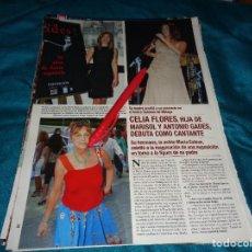 Coleccionismo de Revista Hola: RECORTE : CELIA FLORES, HIJA DE MARISOL, DEBUTA COMO CANTANTE. HOLA, AGTO 2006(#). Lote 293932563
