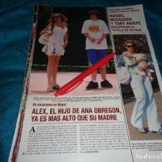 Coleccionismo de Revista Hola: RECORTE : ANA OBREGON, VACACIONES CON SU HIJO EN MIAMI. HOLA, AGTO 2006(#). Lote 293932638
