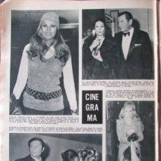 Colecionismo da Revista Hola: RECORTE REVISTA HOLA N.º 1325 1970 RAQUEL WELCH, LORETTA YOUNG, CARROLL BAKER, MASTROIANNI. Lote 294131523